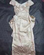 Vintage Wedding Dress or Bridesmaid size UK 10 ALFRED ANGELO ILGWU brocade D435