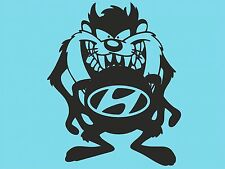 Taz Hyundai Logo Sticker Car Sticker Vinyl Sticker Rear Window Side Bumper T11