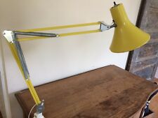 Vintage Mid Century Articulating Swing Arm Drafting Desk Lamp Luxo Sunny Yellow