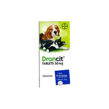 2 Droncit Tablets For Cats And Dogs Tapeworm / DeWormer Worming Pill - 2 Tablets