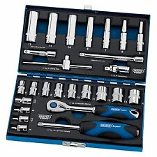 "Draper Expert 26pc 1/4"" Drive Metric Ratchet Socket Set Tool Kit  - 43675"