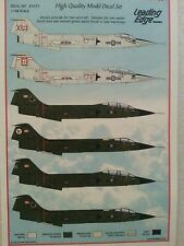 Leading Edge 1/48 CF-104 Starfighter CAF 417/421/439/441 Sqdrns Cold Lake/AETE