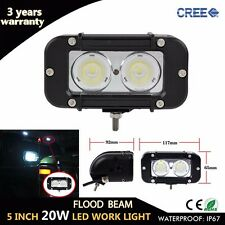 5 Inch 20W CREE LED Work Light Bar Flood 4x4 LED Offroad Drive Fog Lamp SUV ATV