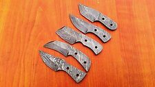 Custom Made Damascus Steel mini Knife Blank Blades Lot of 5.