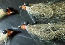 GOTCHA BONEFISH WEIGHTED EYES # 4 TAN PEARL SALTWATER FLY FISHING FLIES PERMIT