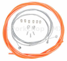 Bicycle 5mm LINED freestyle ACS rotor brake cable kit old school BMX - ORANGE
