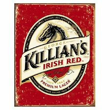 Killian's Red Beer Logo Distressed Advertising Retro Vintage Metal Tin Sign New