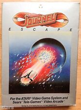 1982 JOURNEY ESCAPE ATARI GAME CARTRIDGE, STEVE PERRY, BOX and MANUAL ONLY