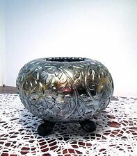 Antique Westmoreland Carnival Glass Rose Bowl Louisa Silver Iridized Amethyst