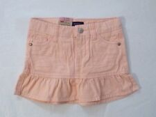 NEW Levi's Girl's ALESSANDRA SCOOTER Skort Adjustable Waist Denim Peach 7 Reg