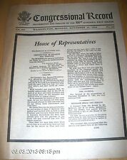 Vol. 109 No. 191 Congressional Record November 25, 1963 J.F. Kennedy   VERY GOOD