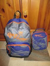 "NWT ROXY Girls ""Sunset"" School Backpack Book Bag & Bonus Lunch Box, School!!"