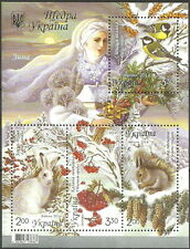 Ukraine - Winter 2014 Block 125 postfrisch Mi. 1458-1461