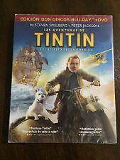 LAS AVENTURAS DE TINTIN SECRETO DEL UNICORNIO - COMBO BLURAY + DVD - NEW&SEALED