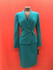 TAHARI BY ARTHUR LEVINE SKIRT SUIT/TEAL/SIZE 14/RETAIL$280/LINED/NEW WITH TAG