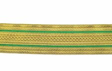Braid Gold Wire 2 Green line 55 mm Sold By Meter R0012