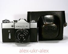 Russian Zenit-B with Industar-50-2 lens 35-mm film camera M42 mount.Exc.CLA