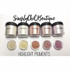 MAC HIGHLIGHT Pigments Sample Set Vanilla Lily White Milk Frost Kitschmas 1/4tsp
