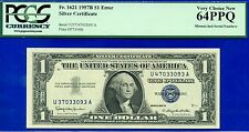 1957B $1 S/C (( Error Note )) Mismatched Serial # PCGS V-CH-New 64PPQ # U37-U47