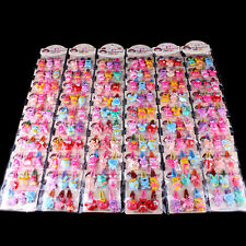 20PC Baby Girls Hairpin Mixed Assorted Kid Children Cartoon Hair Pin Clips Decor