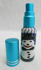 Snowman Perfume Atomiser & Pump - Fill With Your Own Scent - Handbag Size - BNIB