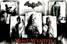 PS3 XBOX BATMAN ARKHAM CITY MOST WANTED VIDEO GAME POSTER 22x34 NEW FREE SHIP