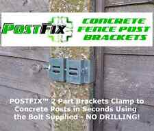 "POSTFIX Slotted Concrete Fence Post Bracket 8 PACK Fix Anything to 4"" x 4"" Posts"