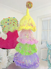 Shabby Candy Land Chic Fairy Floss Xmas Dr Seuss Style Ruffles Christmas Tree Nw