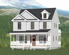 24x24 House -- 3 Bedroom 3 Bath -- 1,143 sq ft -- PDF Floor Plan -- Model 2A