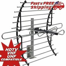 Digital Indoor TV Antenna HDTV VHF UHF Attic Mount Universal Connection Home New