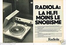 Publicité advertising 1976 (2 pages) Platine Tourne Disques electronique Radiola
