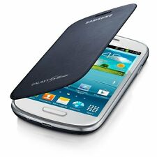 GENUINE SAMSUNG GALAXY S3 MINI i8190 FLIP CASE COVER IN PEBBLE BLUE EFC-1M7F
