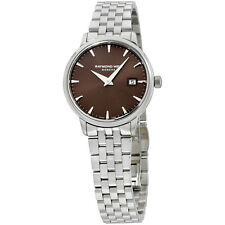 Raymond Weil Brown Dial Stainless Steel Ladies Watch 5988-ST-70001