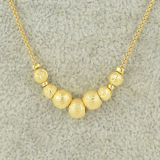 chain yellow gold filled long necklace gold plate/tone 17.72inch wholesale