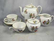 Child's Seltmann Weidman Bavarian Porcelain Tea for Two Set - Playing Children