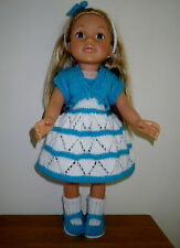 Hand Knitted Dolls Clothes for American Girl / Designafriend and simalar dolls