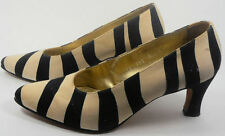 ESCADA Vintage Shoes Pumps 7 37  Black White Zebra Animal Safari Hapachico Haute