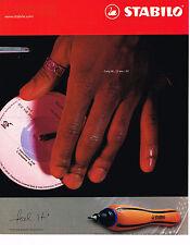 PUBLICITE ADVERTISING 075  2001 STABILO  stylo feutre COLORBALL 2