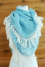 Beautiful Fringe-Edge Scarf!! Light Weight Cotton, Can be a Scarf or a Wrap!!
