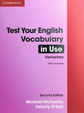 Cambridge TEST YOUR ENGLISH VOCABULARY IN USE Elementary Second Ed w Answers NEW