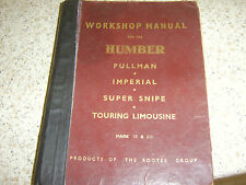 WORKSHOP MANUAL FOR THE HUMBER