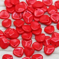 *PICK YOUR COLOR*  50pcs 7x8mm AWESOME SMALL ROSE PETALS CZECH BEADS