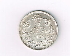 (D-30) CANADA 1920 10 CENTS SILVER KING GEORGE V UNC