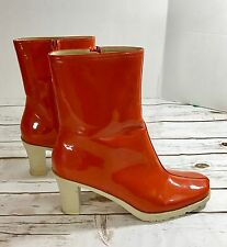 Banana Republic Women's Ankle/rain  Boots Orange Sz 8 Heeled