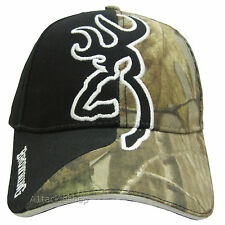 Browning Big Buckmark Camo / Black Twill Cap Shotgun Shooting Clay Pigeon  Game