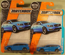 Matchbox lot (2) Volvo V60 wagons blue #8/125