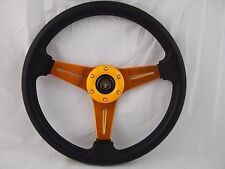 "Boat Steering wheel With Adapter 3 spoke boats with a 3/4"" tapered key Marine"