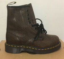 DR. MARTENS 1460  BROWN WAVE   LEATHER  BOOTS SIZE UK 6