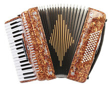 Rossetti 3460 60 Bass 34 Keys 5 Switch Piano Accordion - Tiger + Case + Straps