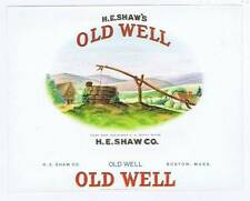 Old Well, inner cigar box label, H. E. Shaw Co.